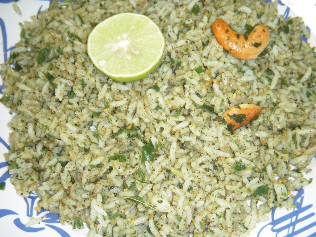 karivepaku Annam (Curry Leaves Rice)